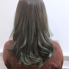 ロング ハイライト ナチュラル グラデーションカラー ヘアスタイルや髪型の写真・画像