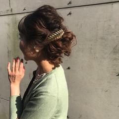 ナチュラル ヘアアレンジ 夏 簡単ヘアアレンジ ヘアスタイルや髪型の写真・画像