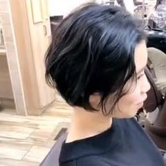 透明感カラー ブリーチなし ボブ ナチュラル ヘアスタイルや髪型の写真・画像