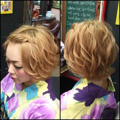 アップスタイル ショート ヘアアレンジ 和装 ヘアスタイルや髪型の写真・画像