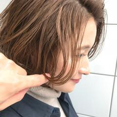ボブ リラックス デート ナチュラル ヘアスタイルや髪型の写真・画像