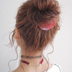 簡単ヘアアレンジ 大人女子 ヘアアレンジ バンダナ ヘアスタイルや髪型の写真・画像