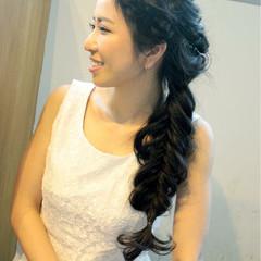 大人かわいい ロング 編み込み ナチュラル ヘアスタイルや髪型の写真・画像