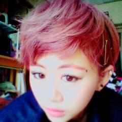 マッシュ ヘアアレンジ ピンク かっこいい ヘアスタイルや髪型の写真・画像