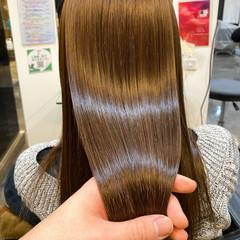 ロング 髪質改善カラー 髪質改善トリートメント ストレート ヘアスタイルや髪型の写真・画像