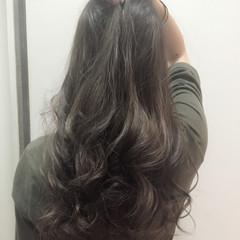 ストリート 暗髪 ロング 艶髪 ヘアスタイルや髪型の写真・画像