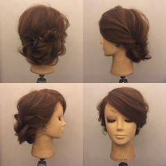 上品 ヘアアレンジ 裏編み込み 結婚式 ヘアスタイルや髪型の写真・画像