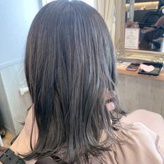 切りっぱなしボブ ベリーショート セミロング ナチュラル ヘアスタイルや髪型の写真・画像