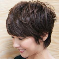 小顔 ストリート ショート マッシュ ヘアスタイルや髪型の写真・画像