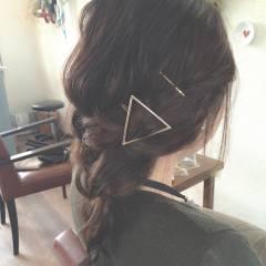 大人かわいい ナチュラル 簡単ヘアアレンジ ロング ヘアスタイルや髪型の写真・画像