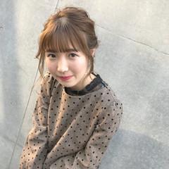 ヘアアレンジ 成人式 ガーリー ミディアム ヘアスタイルや髪型の写真・画像