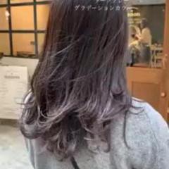 デート ゆるふわ モテ髪 グラデーションカラー ヘアスタイルや髪型の写真・画像