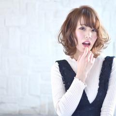 前髪あり こなれ感 小顔 大人女子 ヘアスタイルや髪型の写真・画像