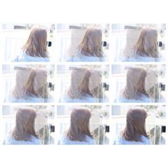 ボブ ナチュラル ミディアム アッシュベージュ ヘアスタイルや髪型の写真・画像
