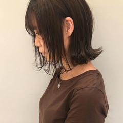 ボブ ナチュラル ヘアアレンジ 透明感カラー ヘアスタイルや髪型の写真・画像