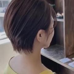 ショートヘア 大人ショート ショート ミルクティーグレージュ ヘアスタイルや髪型の写真・画像