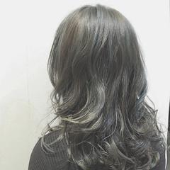 ニュアンス ハイライト ストリート ミディアム ヘアスタイルや髪型の写真・画像