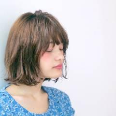 ふわふわ ストリート ボブ 外国人風カラー ヘアスタイルや髪型の写真・画像