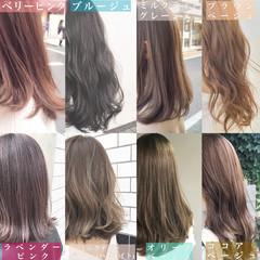 インナーカラー ロング ナチュラル イルミナカラー ヘアスタイルや髪型の写真・画像