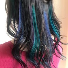 ストリート 個性的 ユニコーンカラー ユニコーン ヘアスタイルや髪型の写真・画像