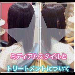 髪質改善トリートメント ミディアム 髪質改善 髪質改善カラー ヘアスタイルや髪型の写真・画像
