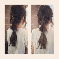 ショート ゆるふわ ヘアアレンジ ロング ヘアスタイルや髪型の写真・画像