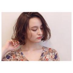 透明感 ハイライト ミディアム グラデーションカラー ヘアスタイルや髪型の写真・画像