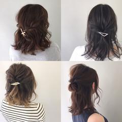 涼しげ デート ヘアアレンジ ナチュラル ヘアスタイルや髪型の写真・画像