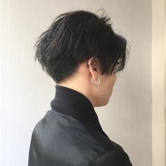 モード 黒髪 ナチュラル ショート ヘアスタイルや髪型の写真・画像