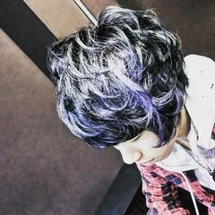 ショート モード アッシュ メンズ ヘアスタイルや髪型の写真・画像
