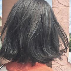 色気 オリーブアッシュ 外国人風 ボブ ヘアスタイルや髪型の写真・画像