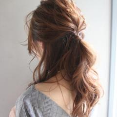オフィス ロング エレガント デート ヘアスタイルや髪型の写真・画像