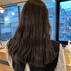 ミディアム ミルクティーベージュ ベージュカラー 透明感カラー ヘアスタイルや髪型の写真・画像