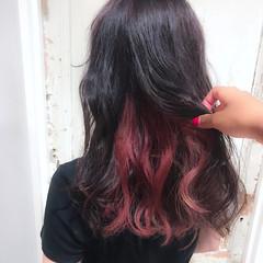 女子会 ストリート ウェーブ セミロング ヘアスタイルや髪型の写真・画像