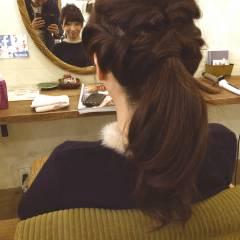 簡単ヘアアレンジ ショート 秋 愛され ヘアスタイルや髪型の写真・画像