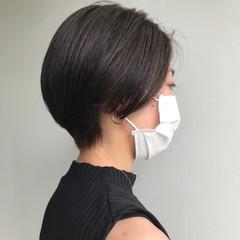 ショートボブ 透明感カラー ハンサムショート ショートヘア ヘアスタイルや髪型の写真・画像
