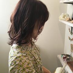 秋 外ハネ 女子力 ウェーブ ヘアスタイルや髪型の写真・画像