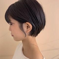 マッシュショート ナチュラル ショート ショートヘア ヘアスタイルや髪型の写真・画像