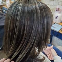 エレガント ボブ ナチュラルグラデーション コントラストハイライト ヘアスタイルや髪型の写真・画像
