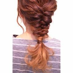 ストリート モテ髪 愛され 編み込み ヘアスタイルや髪型の写真・画像