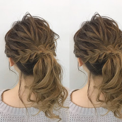 セミロング 謝恩会 ヘアアレンジ 簡単ヘアアレンジ ヘアスタイルや髪型の写真・画像