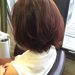 ピンク グラデーションカラー ベージュ ナチュラル ヘアスタイルや髪型の写真・画像