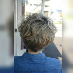 パーマ 大人かわいい ストリート ショート ヘアスタイルや髪型の写真・画像