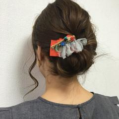 大人女子 ショート ヘアアレンジ 簡単ヘアアレンジ ヘアスタイルや髪型の写真・画像