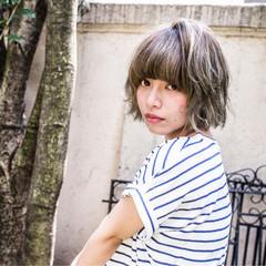 パーマ ピュア ボブ ゆるふわ ヘアスタイルや髪型の写真・画像