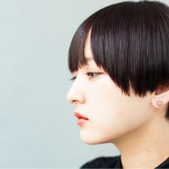 モード ショート マッシュ フェミニン ヘアスタイルや髪型の写真・画像