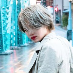 ブリーチカラー ブリーチオンカラー ショート ストリート ヘアスタイルや髪型の写真・画像