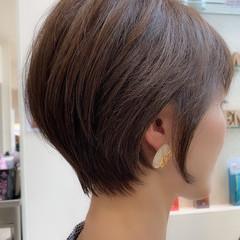 ショートヘア 極細ハイライト ショート ナチュラル ヘアスタイルや髪型の写真・画像