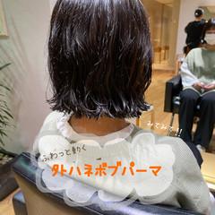 ミニボブ ナチュラル デート ボブ ヘアスタイルや髪型の写真・画像