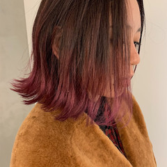 アンニュイほつれヘア ボブ ストリート グラデーションカラー ヘアスタイルや髪型の写真・画像